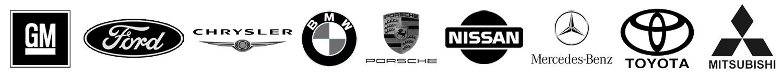Manufacturer Logos - GM, Ford, Chrysler, BMW, Porsche, Nissan, Mercedes Benz, Toyota, Mitsubishi